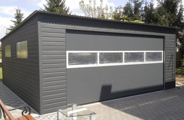 Garaż blaszany akrylowy