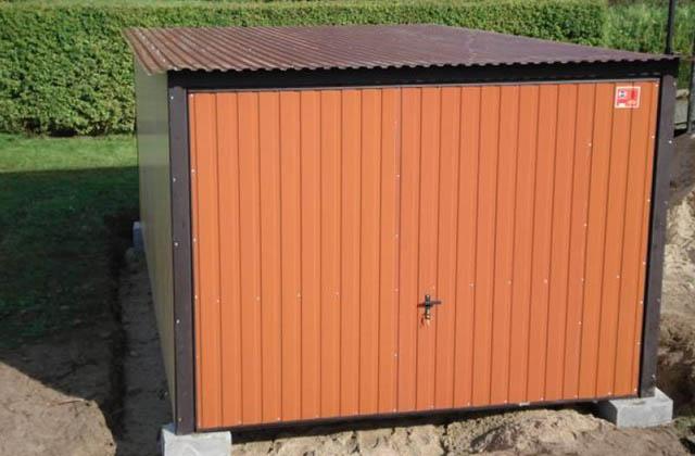 Garaż blaszany 3x5m piaskowy
