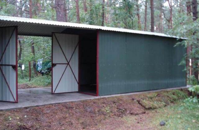 Garaż blaszany 3x5m podwójny