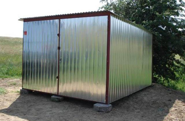 Garaż blaszany 3x5m srebrny