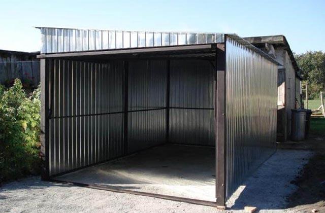 Garaż blaszany 3x5m z podnoszoną bramą (woj. zachodniopomorskie)