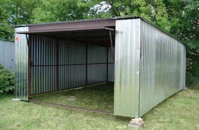 Garaż blaszany 4x5m srebrny