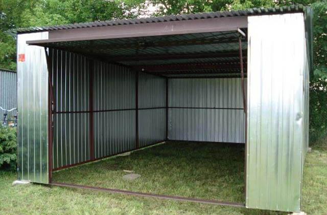 Garaż blaszany 4x6m srebrny