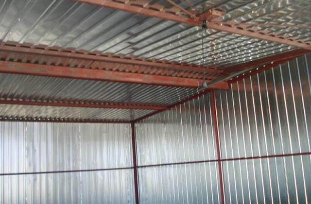Garaż blaszany 4x6m z bramą unoszoną
