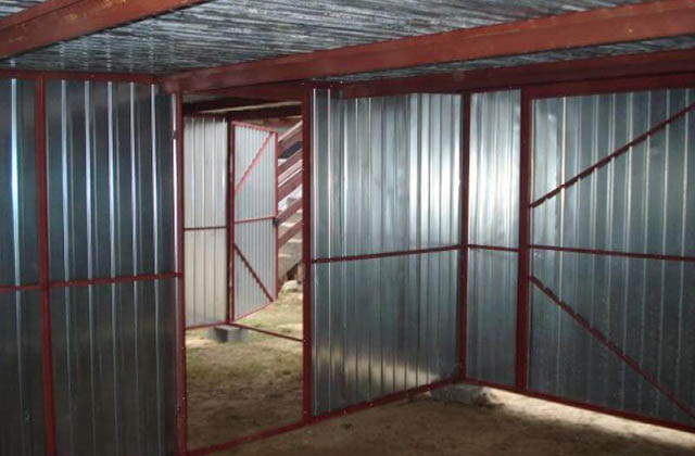 Garaż blaszany 6x5m