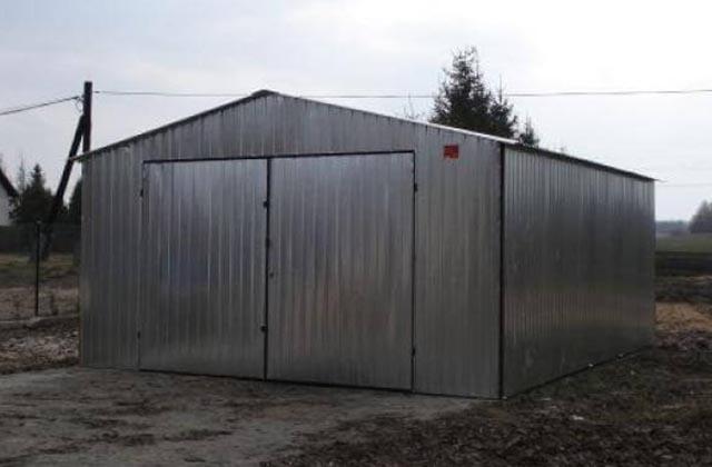 Garaż metalowy, blaszany dwuspadowy 4x6m