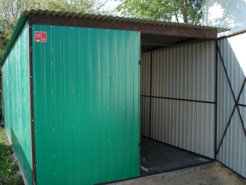 Garaż Blaszany 3x5m Zielony Go Stal