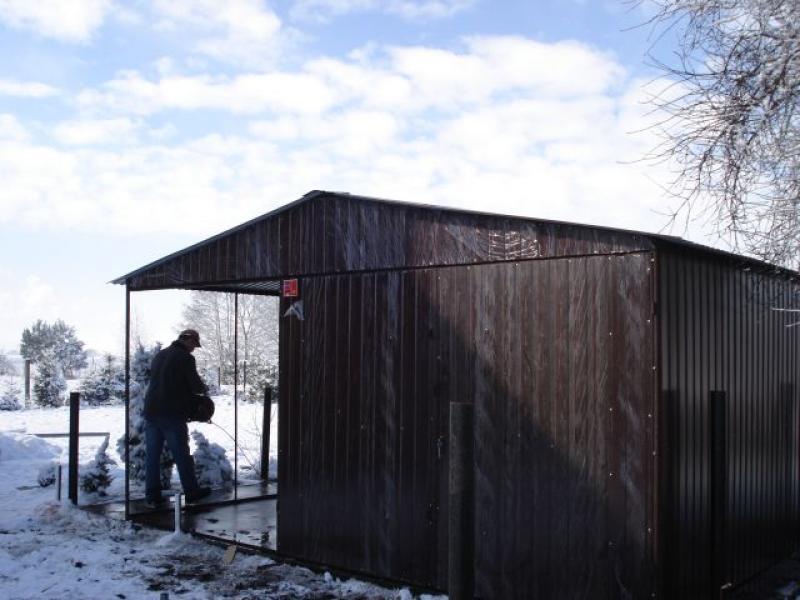 Garaż Blaszany 3x5m Z Zadaszeniem Go Stal