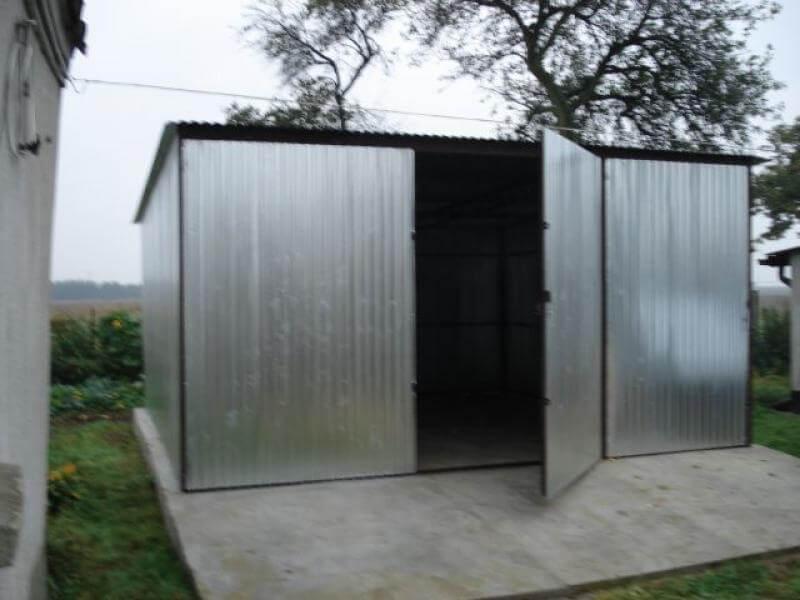 Garaż Blaszany 4x5m Srebrny Go Stal