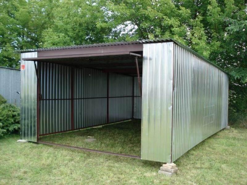 Garaż Blaszany 4x6m Srebrny Go Stal
