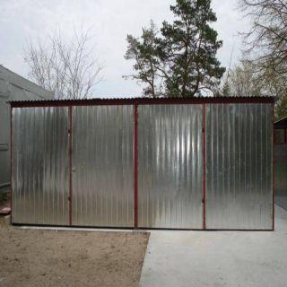 Garaż blaszany 6x6m