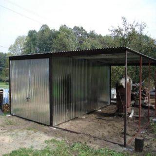 Garaż Blaszany 5x5m Z Bramą Unoszoną Go Stal