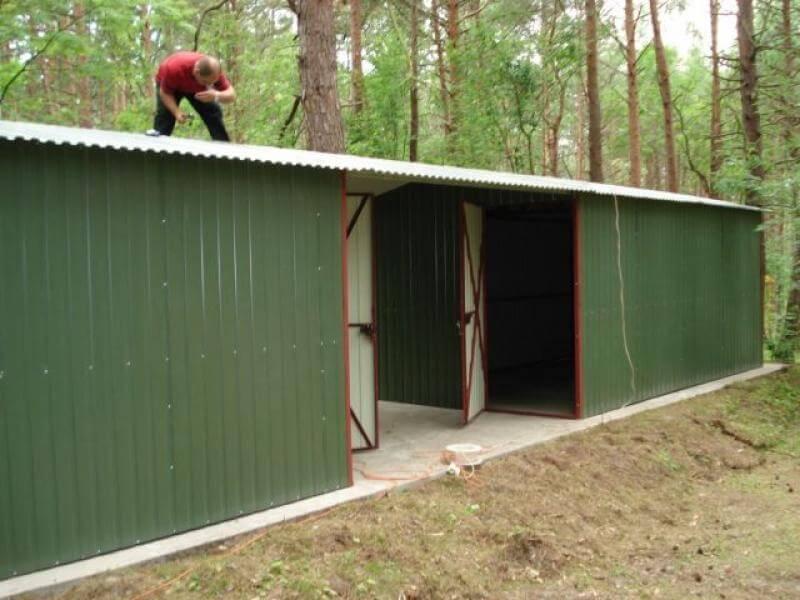 Garaż Blaszany Podwójny Blaszak 3x5m Go Stal