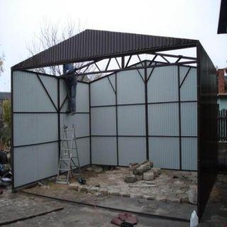 Garaż blaszany 4x5m